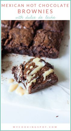 Mexican Hot Chocolate Brownies with Dulce de Leche... YUM!