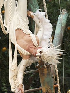 """THE TEMPEST""  -  Regent's Park Open Air Theatre  2009  -  Feathered Mask for Ariel  Designer: Philip Witcomb"