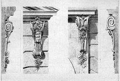 Louis XV console designs