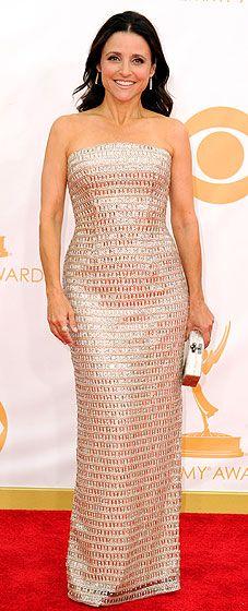 Julia Louis Dreyfus sparkles at the 2013 Emmy Awards