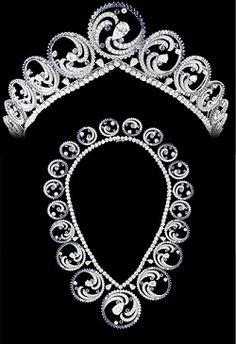 diadème transformable en collier de la princesse Charlène de Monaco