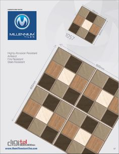 Millennium Tiles 300x300mm Digital CF Floor Tile Series