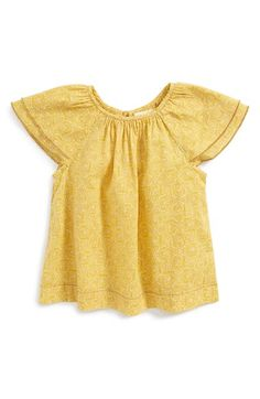 Peek+'Saylor'+Flutter+Sleeve+Top+(Baby+Girls)+available+at+#Nordstrom