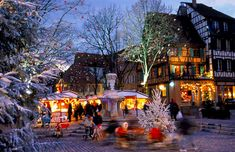 The Old Town Christmas Market area in Colmar, Alsace, France Christmas In Europe, French Christmas, Christmas Holidays, Christmas Markets, Christmas Scenery, Celebrating Christmas, Christmas Villages, Christmas Wishes, Week End Bretagne