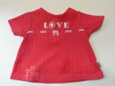 """$6.98/ Newborn Infant Baby Girls Red Top Shirt  says """"Love"""" by Disney Sincerely Pooh, features embroidered Flowers size 0-3 mo's.  ~~see more youth, kids, children's clothing + over 20 categories of merchandise in my store. SHIPPING IS ALWAYS FREE in the USA; I do ship globally www.shellyssweetfinds.com"""