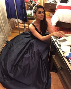 In the middle of the mess, I pose!!! My Fairytale moment in @manishmalhotra05 ;) #ElleCoverLaunch @eltonjfernandez