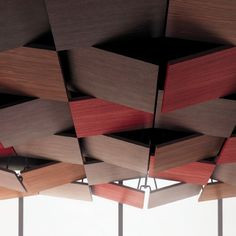 Oberflex - wood laminates, including those you can write on with dry wipe markers or chalk Interior Ceiling Design, False Ceiling Design, Ceiling Decor, Office Interior Design, Roof Design, Facade Design, Wall Design, Open Ceiling, Ceiling Panels
