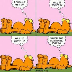 """I'm still deciding #Garfield comic strip"