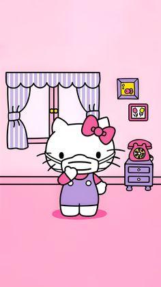 Hello Kitty Iphone Wallpaper, Hello Kitty Backgrounds, Sanrio Wallpaper, Kawaii Wallpaper, Cool Wallpaper, Hello Kitty Pictures, Kitty Images, Pink Wallpaper Barbie, Hello Kitty Christmas Tree