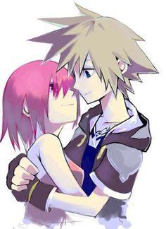 Awww sora and Kairi