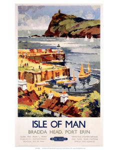 Vintage Travel Poster - UK - Isle of Man - Railway