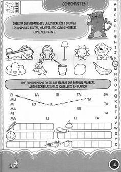 Consonantes L M y P Teaching Aids, Spanish Class, Grade 1, Diagram, Teacher, Math, Reading, School, Psp