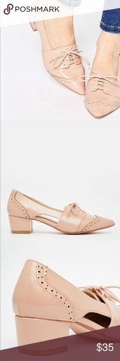 ASOS Oxford shoes Color: dust pink. Super chic and pretty. Very comfy, worn 2 times in great condition ASOS Shoes
