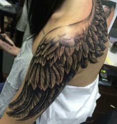 down - Tattoo Designs Men Wing Tattoo Men, Wing Tattoos On Back, Wing Tattoo Designs, Back Tattoo Women, Tattoos For Women, Tattoos For Guys, Feather Tattoos, Star Tattoos, Sleeve Tattoos