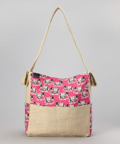Another great find on #zulily! Tribal Elephant & Burlap Diaper Bag by Brownie Gifts #zulilyfinds