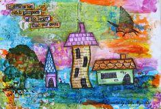 Neon Diary: Art Journal - Houses