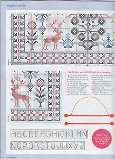 free historical ethnic Hungarian cross stitch sampler patter part 3 Gallery.ru / Фото #25 - 990 - Yra3raza