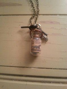 """Wishes of Pony"" Teenie Tiny Cork Jar Vintage Inspired Necklace"