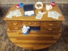 Secretary Day.. Fondant cake Desk