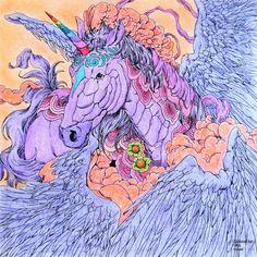 Nicholas F. Chandrawienata - Fantasia  Unicorn Coloured with Aihao pencils