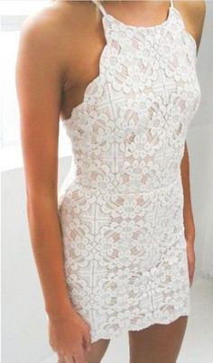 CROSS STRAPS LACE HOLLOW OUT DRESS LK1211F on Luulla