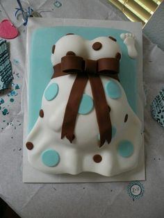 Baby belly cake made by jeanette labella