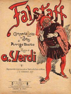 Falstaff - Giuseppe Verdi | Vintage Poster