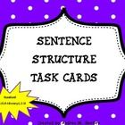 Sentence Structure Task Cards are great to use in your classroom as a center activity, as skill reinforcement, and as practice for upcoming assessments. There are 30 task cards. $
