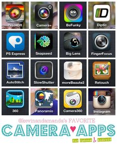 Best Camera Apps for iPhone and Android @Amanda | Kevin and Amanda