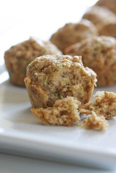 Zucchini Mini Muffins via @April