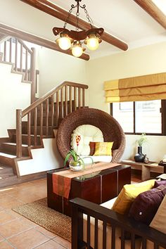 Contemporary Filipino Furnishings in a Tagaytay Log Cabin Real Living Philippines