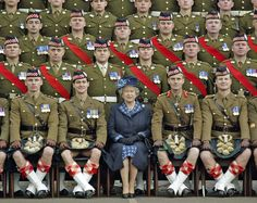 A photo meant to show Queen Elizabeth II... instead, I'm focused on the man to the left of her and how I can just about see his unmentionables!! Come on man!