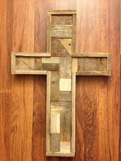 Your place to buy and sell all things handmade Mosaic Crosses, Wood Crosses, Wood Mosaic, Pallet Projects, Woodworking Shop, Craft Gifts, Simply Beautiful, Rustic Wood, Wood Art