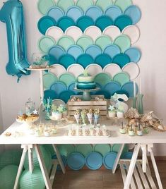 the little-known secrets to baby shower ideas for girls 38 - Site Today - the little-known secrets to baby shower ideas for girl themes 38 – - Birthday Table, First Birthday Parties, Birthday Party Themes, Girl Birthday, First Birthdays, Birthday Month, First Birthday Girl Mermaid, Diy Mermaid Birthday Party, February Birthday