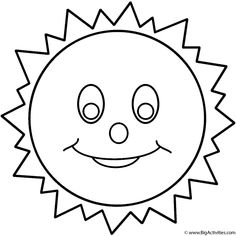 sun coloring page presxhool google search april coloring pages