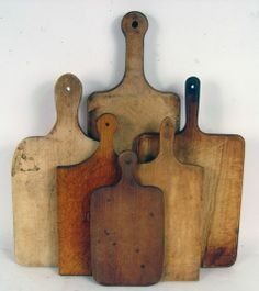 Antique early American cutting boards.