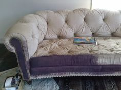 Gentil Reloved Rubbish: The Painted Sofa   The Key To Painting Upholstery With  Chalk Paint