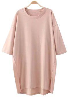 Solid Color Half Sleeve Dress | Zaful