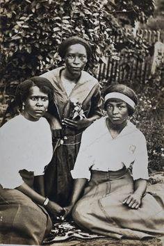 Three young women, c. 1910s.