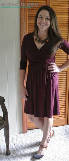 Gilli Lauree V-Neck Drape Dress - Stitch Fix Review September 2015 #stitchfix @stitchfix www.somuchtoenjoy.com