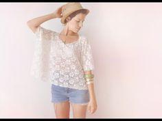 2 minutes lace box top DIY tee-shirt - FASHION DIY VIDEO TUTORIAL - YouTube