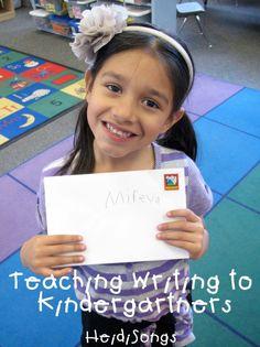 Teaching Writing to Kindergartners