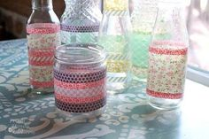 One of the most fun items in the craft store is washi tape, a thin adhesive tape made of pretty paper. Here are 12 brilliant DIY craft ideas for washi tape. Diy Washi Tape Crafts, Washi Tape Uses, Fun Diy Crafts, Crafts For Teens, Paper Crafts, Teen Crafts, Washi Tapes, Birthday Banner Design, Birthday Diy