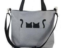 Gatto della borsa del feltro borsa per donna borsa grigio