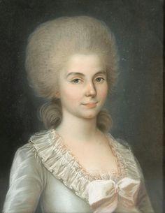 Portrait de Marie-Anne Vallée, épouse de Christophe Goeury, avocat à Nancy, école française du XVIIIe siècle
