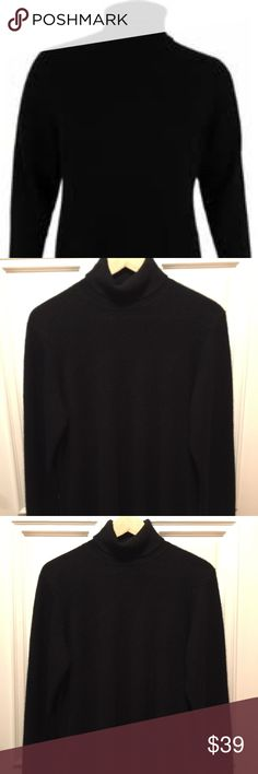 """Charter Club Cashmere Turtleneck Sweater A classic cashmere essential, Charter Club's turtleneck sweater is essential for a refined look.  ❄️Turtleneck collar ❄️Armpit to armpit: 19"""", Length: 23"""", Sleeve: 24.5"""" ❄️Fitted; hits at hip ❄️Created for Macy's ❄️100% cashmere ❄️Dry clean Charter Club Sweaters Cowl & Turtlenecks"""
