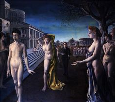 Paul Delvaux - Dawn of the Town (1940)