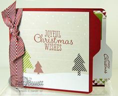 www.PattyStamps.com - Stampin Up Season of Style Journaling cards on side fold File Folder Cards!  Fun and easy with the Envelope Punch Board!