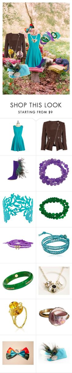 """""""Wonderland (Daughter of the Mad Hatter)"""" by ggmusicista on Polyvore featuring Karen Millen, Paul Andrew, Lori's Shoes, Minor Obsessions, Colana, Mark Davis, Alex Monroe, women's clothing, women's fashion and women"""
