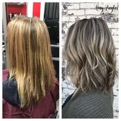 Tie And Dye Blonde, Ash Blonde Hair Dye, Ombre Curly Hair, Ash Blonde Balayage, Curly Hair Styles, Grey Blonde, Blonde Ombre, Ash Gray Hair Color, Brown Hair Colors
